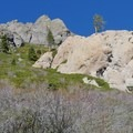 Granite formations along the Five Lakes Trail.- Five Lakes Trail