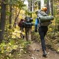 Colchuck Lake/Lake Stuart Trail.- Enchantment Lakes Hike via Colchuck Lake