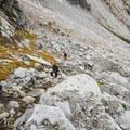 Making the steep climb up Aasgard Pass.- Enchantment Lakes Hike via Colchuck Lake