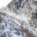 Making the final ascent up 7,840' Aasgard Pass.- Enchantment Lakes Hike via Colchuck Lake