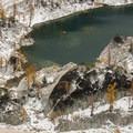 View looking down on Crystal Lake.- Enchantment Lakes Hike via Colchuck Lake