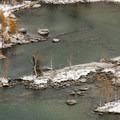 Looking down on Perfection Lake/Sprite Lake in the Enchantment Lakes Basin.- Enchantment Lakes Hike via Colchuck Lake