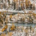 Leprechaun Lake in the Enchantment Lakes Basin.- Enchantment Lakes Hike via Colchuck Lake