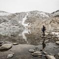 Contributor Shane Kucera in the Enchantment Lakes Basin.- Enchantment Lakes Hike via Colchuck Lake