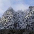 Looking up at Colchuck Peak (8,705').- Enchantment Lakes Hike via Colchuck Lake