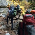 Making the steep climb up to Colchuck Lake.- Enchantment Lakes Hike via Colchuck Lake