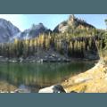Early morning color at Colchuck Lake.- Enchantment Lakes Hike via Colchuck Lake