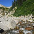 Zigzag Falls along the Paradise Park Trail.- Mount Hood Wilderness