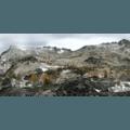 Panoramic view of the Enchantment Lakes Basin.- Enchantment Lakes Hike via Colchuck Lake