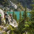 Departing Colchuck Lake.- Colchuck Lake Trail