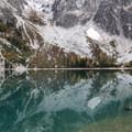 Colchuck Lake reflection.- Colchuck Lake Trail