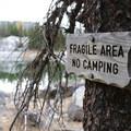 Signage at Colchuck Lake.- Colchuck Lake Trail