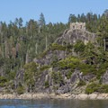 "The ""tea house"" on top of Fannette Island.- Vikingsholm"