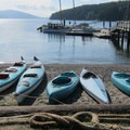 Kayaks are available for on-site rentals.- Obstruction Island Sea Kayaking