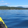 Smooth waters for the Obstruction Island paddle.- Obstruction Island Sea Kayaking