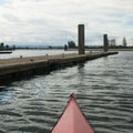 A kayaker launches from the public boat launch in Everett.- Jetty Island Sea Kayaking