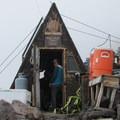A climbing guide hut at Camp Muir.- Camp Muir Hike