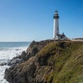 Lighthouse at Pigeon Point.- Pigeon Point Lighthouse + Hostel