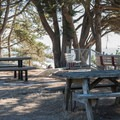 A picnic area at Greyhound Rock County Park.- Greyhound Rock County Park