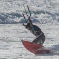 Kiteboarding at Scott Creek Beach.- Scott Creek Beach