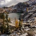 Leprechaun Lake in the Lower Enchantments.- Enchantment Lakes Thru-Hike