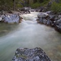 The Middle Fork of the Boise River near the top of the Lynx Creek Gorge.- Middle Fork of the Boise River, Powerplant Trailhead to Mattingly Junction