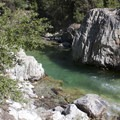 A swimming hole in the Middle Fork of the Boise River that is accesses from the Powerplant Campground.- Middle Fork of the Boise River, Powerplant Trailhead to Mattingly Junction