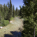 Looking up the Middle Fork of the Boise River.- Middle Fork of the Boise River, Powerplant Trailhead to Mattingly Junction