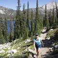 Hiking above Spangle Lake for a quick jaunt to Ingleborg.- Middle Fork of the Boise River, Spangle Lake/Divide + Ingleborg Lake/Divide