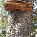 Inglebork Lake sign.- Middle Fork of the Boise River, Spangle Lake/Divide + Ingleborg Lake/Divide