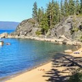 The northern trailhead for the Rubicon Trail begins at D.L. Bliss State Park, above Calawee Cove Beach.- Rubicon Trail