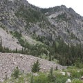 Steep walls flank both sides of Mattingly Creek Canyon.- Middle Fork of the Boise River, Mattingly Creek and Divide