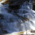 There are several pretty bedrock cascades in Rock Creek that are accessible from the trail.- Middle Fork of the Boise River, Rock Creek Canyon and Timpa Lake