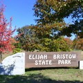 Sign at the entrance to Elijah Bristow State Park.- Elijah Bristow State Park