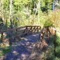 Small bridge along the trail. - Elijah Bristow State Park