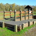 Accessibility ramp at the equestrain staging area.- Elijah Bristow State Park