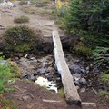 A stream crossing on the Blue Lake Trail.- Blue Lake Hike