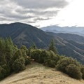 The Siskiyou mountains are visible from the high point on Baldy Peak Trail.- Little Grayback + Mule Mountain Loop