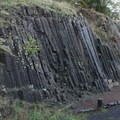 The basalt columns on the western side of Spencer Butte are a popular place for rock climbing.- Skinner Butte Park