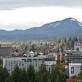Downtown Eugene.- Skinner Butte Park