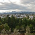 Excellent views of south Eugene and Spencer Butte are visible from the summit parking lot.- Skinner Butte Park