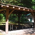 Picnic shelter in the day use area.- Rockport State Park