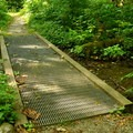 An ADA-accessible portion of Rockport State Park's Evergreen Trail.- Rockport State Park
