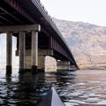 Paddling under the Brewster Bridge.- Lake Pateros Sea Kayaking
