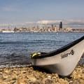 Launching from Seacrest Park beach.- Elliott Bay Sea Kayaking