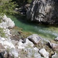 A swimming hole in the Middle Fork of the Boise River that is accessed from the Powerplant Campground.- Atlanta Region