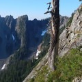 The Kendall Katwalk exposes hikers to a lot of air on the approach hike.- Mount Thompson: West Ridge