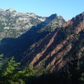 Red Mountain as seen from the PCT.- Mount Thompson: West Ridge