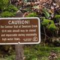High water flows make certain trails inaccessible.- Knobcone Point + Black Rock Falls Hike via Contour Trail