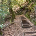 Steps leading up the trail.- Knobcone Point + Black Rock Falls Hike via Contour Trail